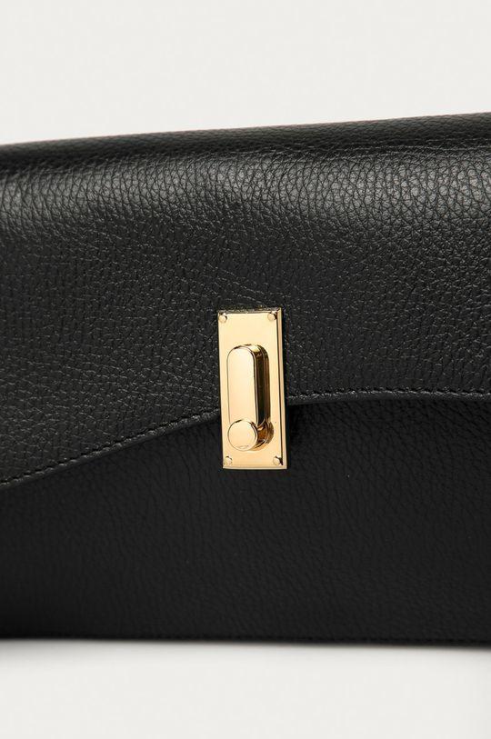 Answear Lab - Kožená kabelka z narozeninové kolekce černá