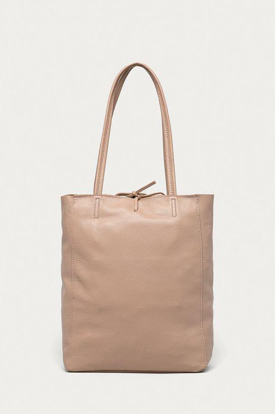 růžová Answear Lab - Kožená kabelka z narozeninové kolekce Dámský