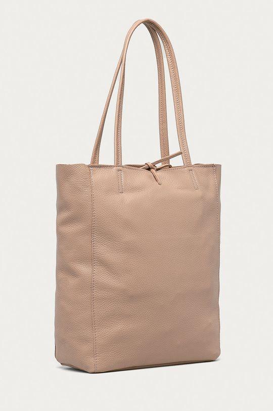 Answear Lab - Kožená kabelka z narozeninové kolekce růžová
