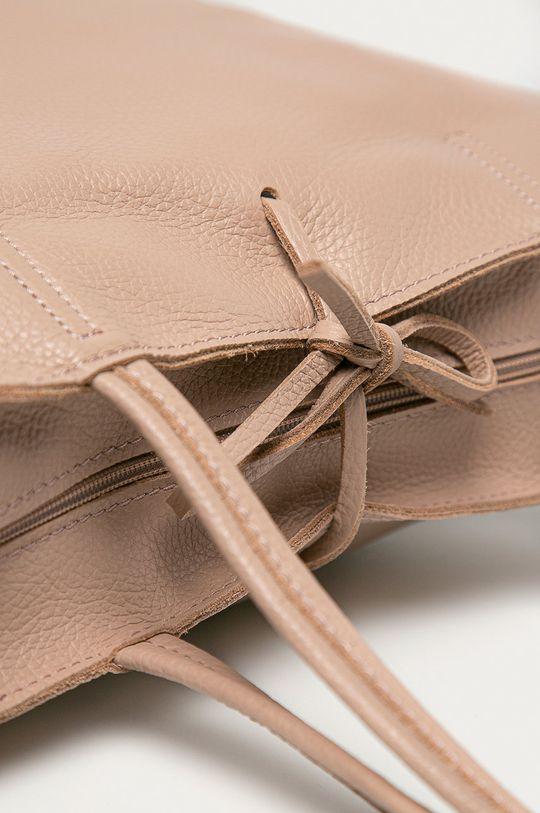 růžová Answear Lab - Kožená kabelka z narozeninové kolekce