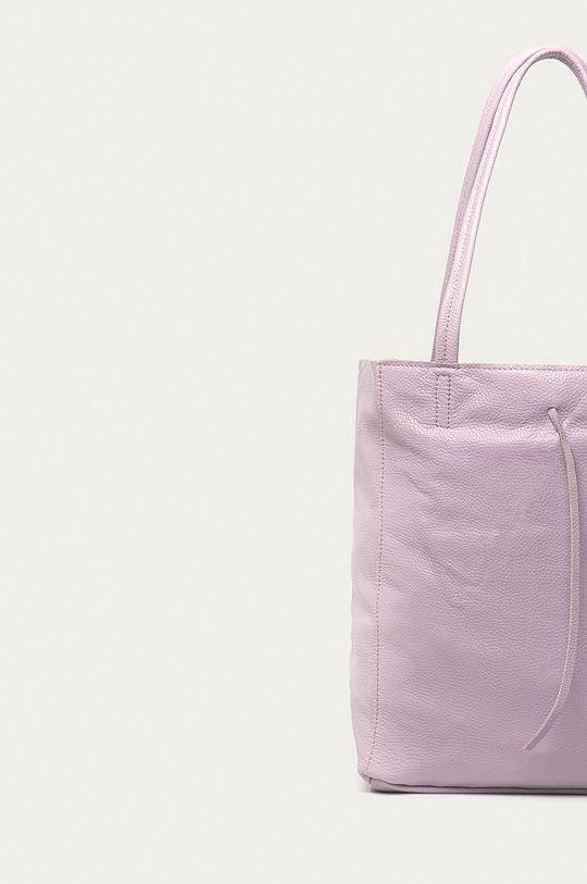 levandulová Answear Lab - Kožená kabelka