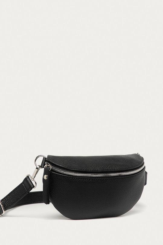 Answear Lab - Kožená kabelka z narodeninovej kolekcie čierna