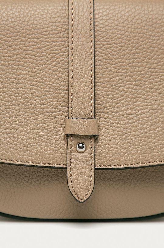 Answear Lab - Kožená kabelka z narozeninové kolekce béžová