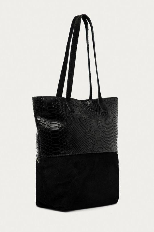 Answear Lab - Kožená kabelka černá
