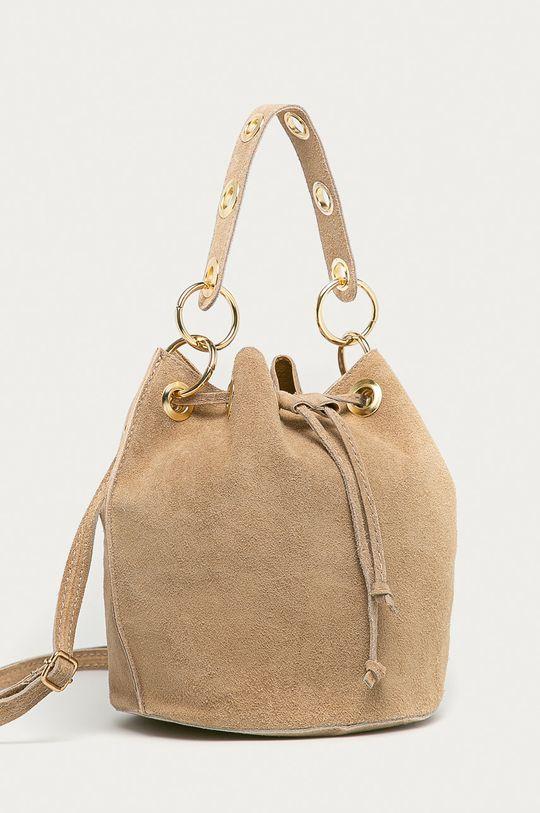 Answear Lab - Semišová kabelka  100% Semišová koža