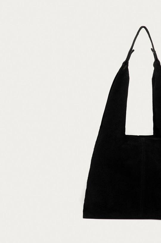 černá Answear Lab - Semišová kabelka