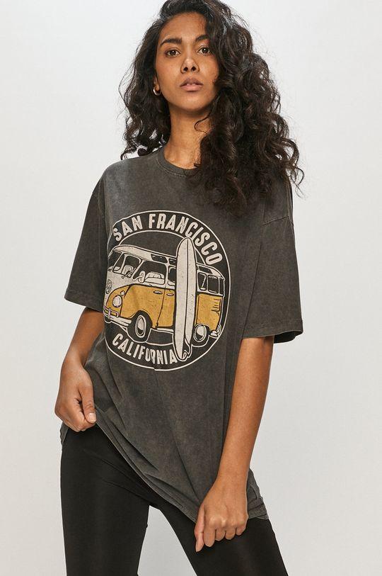 czarny Answear Lab - T-shirt Damski
