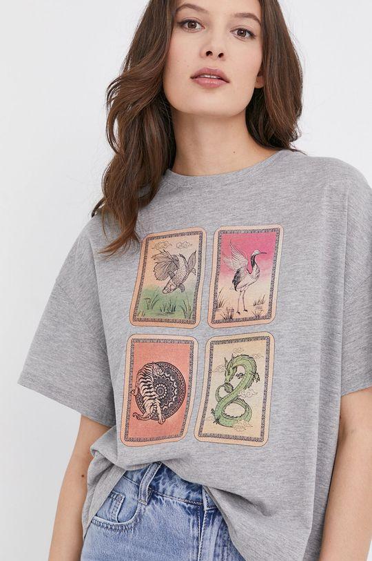 szary Answear Lab - T-shirt
