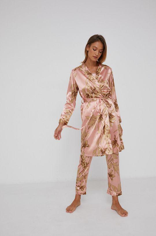 pastelově růžová Answear Lab - Sada 3dílného pyžama Dámský