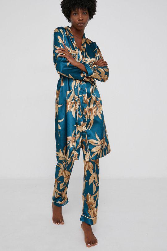 tyrkysová Answear Lab - Sada 3dílného pyžama Dámský