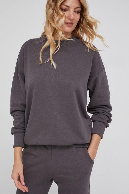 Answear Lab - Bluza bawełniana szary