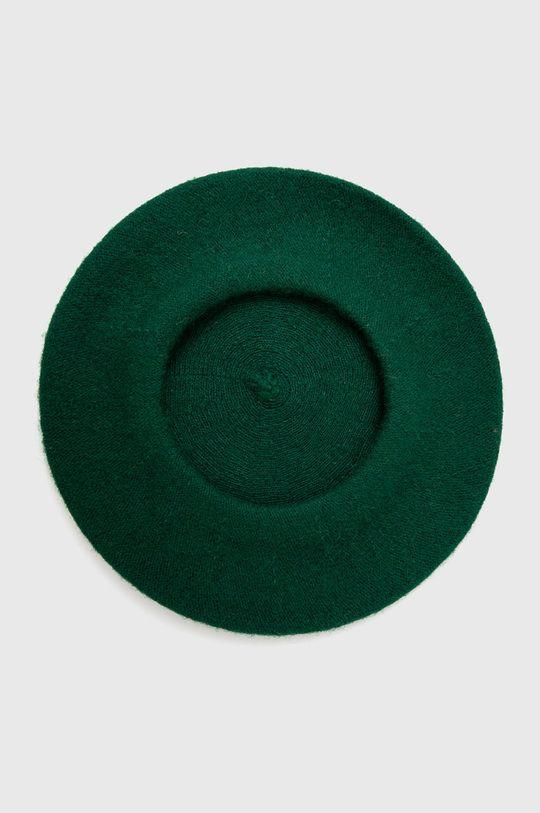 Answear Lab - Beret wełniany zielony