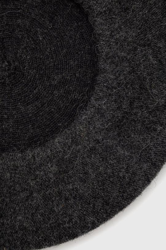 Answear Lab - Beret wełniany 20 % Akryl, 10 % Elastan, 70 % Wełna