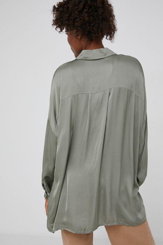 Answear Lab - Koszula z domieszką jedwabiu  20 % Jedwab, 80 % Wiskoza