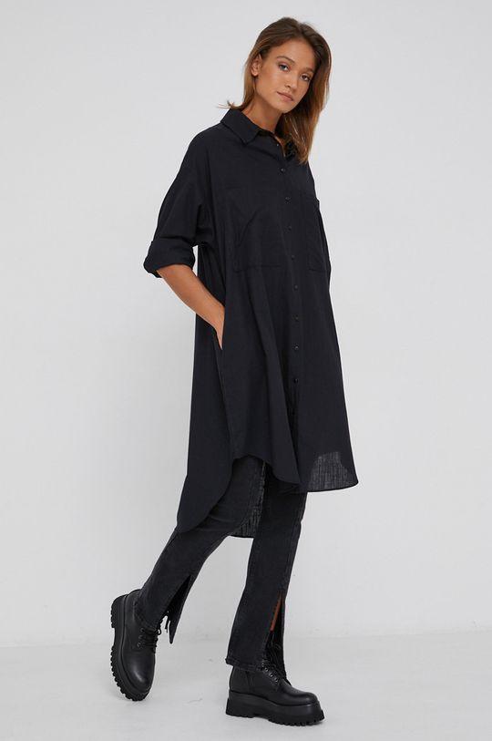 Answear Lab - Bavlněná košile černá