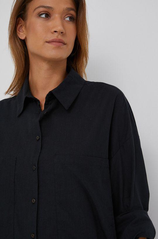 černá Answear Lab - Bavlněná košile