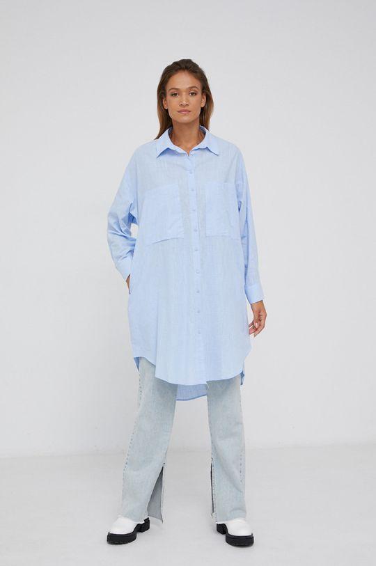 modrá Answear Lab - Bavlněná košile