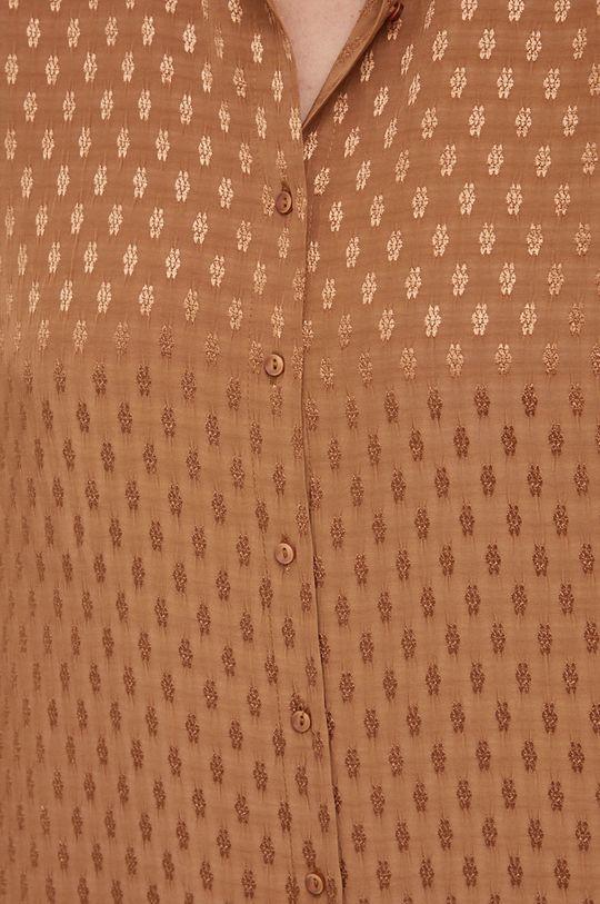 Answear Lab - Koszula złoty brąz