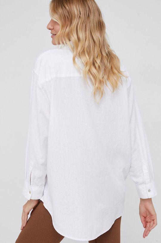 Answear Lab - Koszula z domieszką lnu 80 % Bawełna, 20 % Len