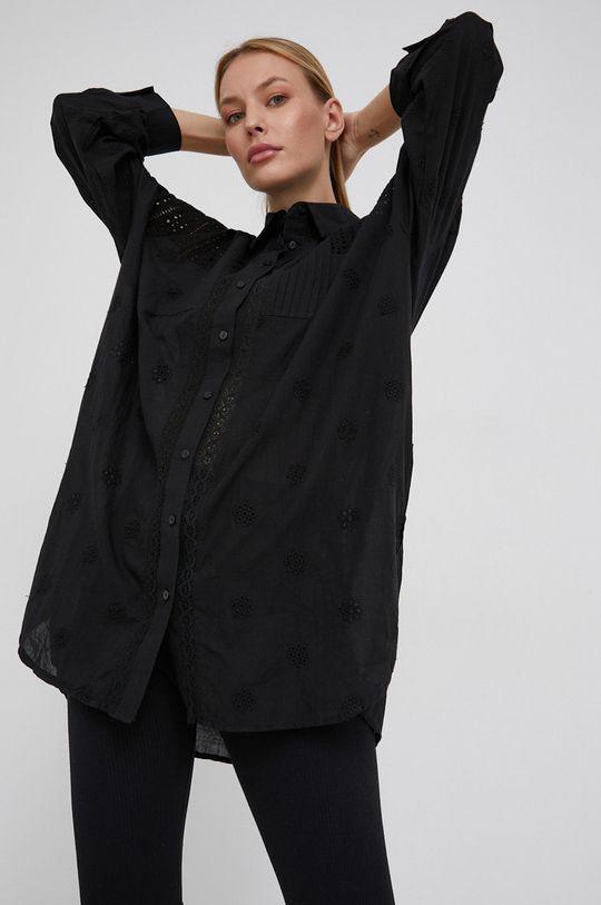 černá Answear Lab - Bavlněná košile Dámský