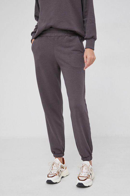 szary Answear Lab - Spodnie bawełniane Damski