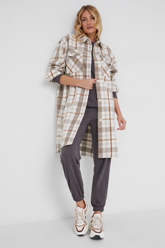 Answear Lab - Spodnie bawełniane szary