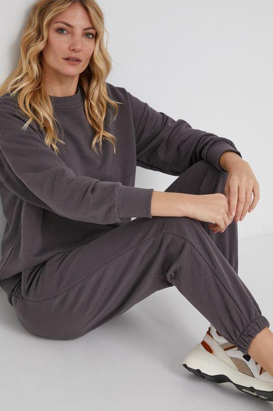szary Answear Lab - Spodnie bawełniane