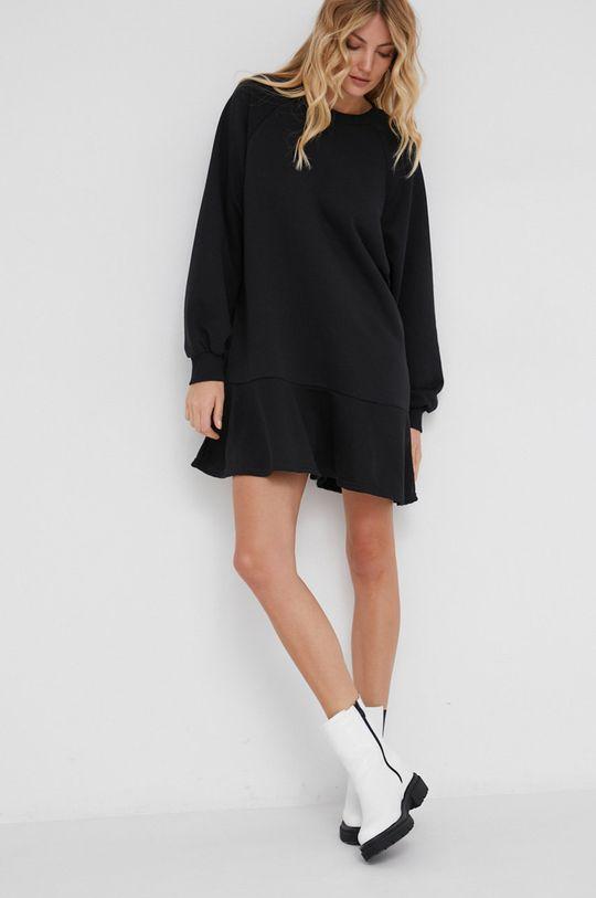czarny Answear Lab - Sukienka bawełniana Damski