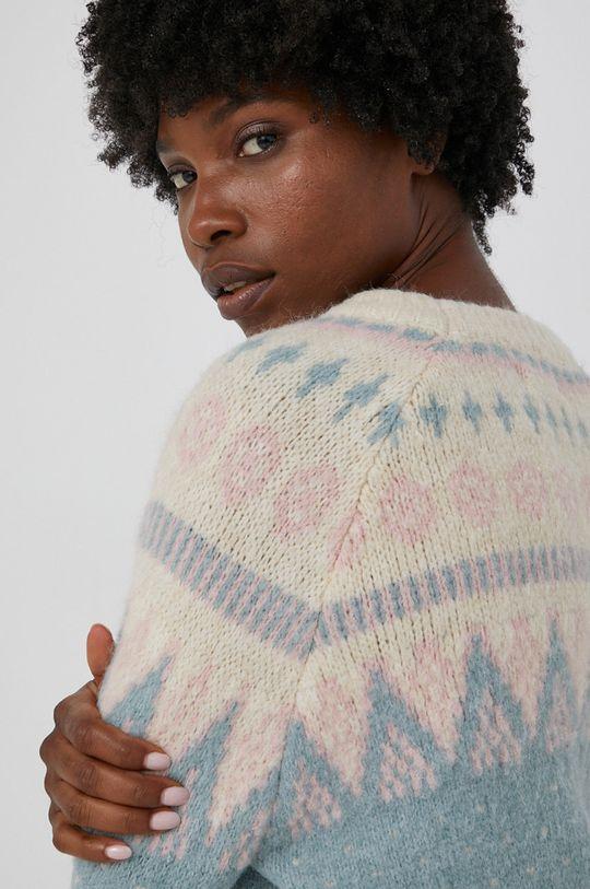 turkusowy Answear Lab - Sweter z domieszką wełny