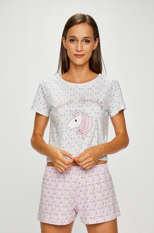 biela Answear - Pyžamo + maska na spanie Dámsky