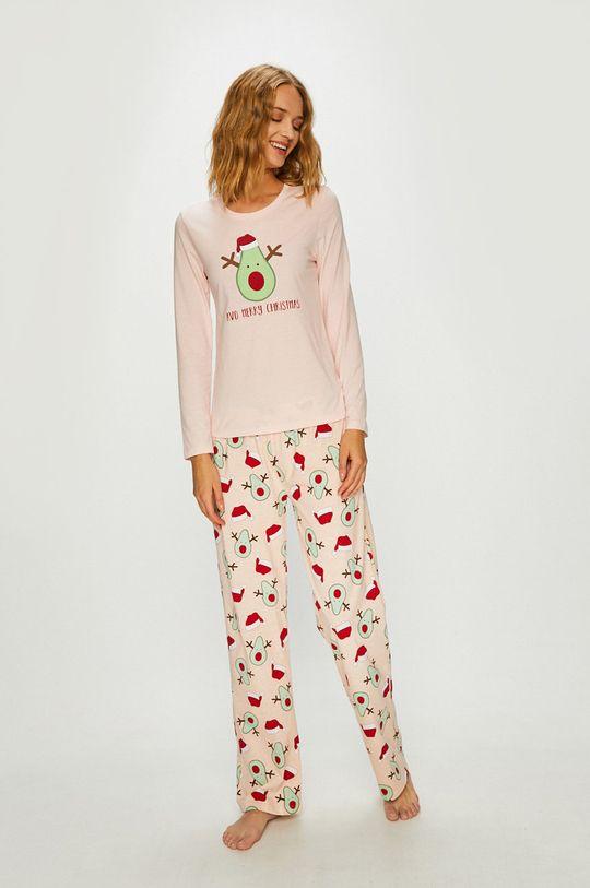 ružová Answear - Pyžamo Dámsky