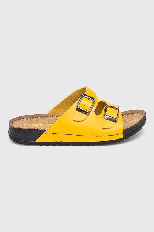 žltá Answear - Šľapky Hit Shoes Dámsky