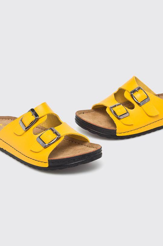 Answear - Šľapky Hit Shoes žltá