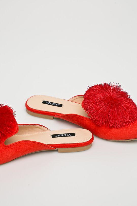 červená Answear - Šľapky Vices