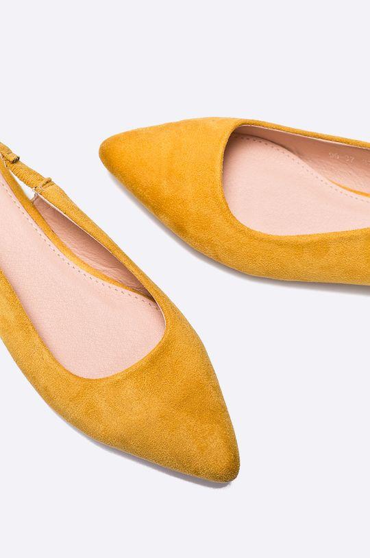 žltá Answear - Baleríny