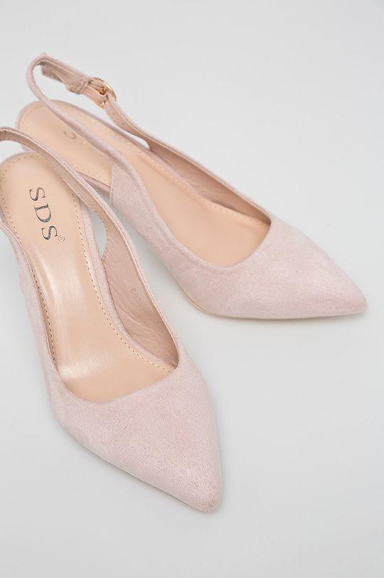 Answear - Lodičky pastelová ružová