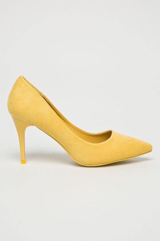 žltá Answear - Lodičky Qinba Dámsky