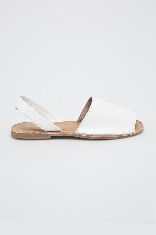 biela Answear - Sandále Leather Collection Dámsky