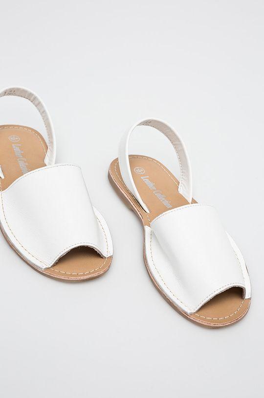 Answear - Sandále Leather Collection biela