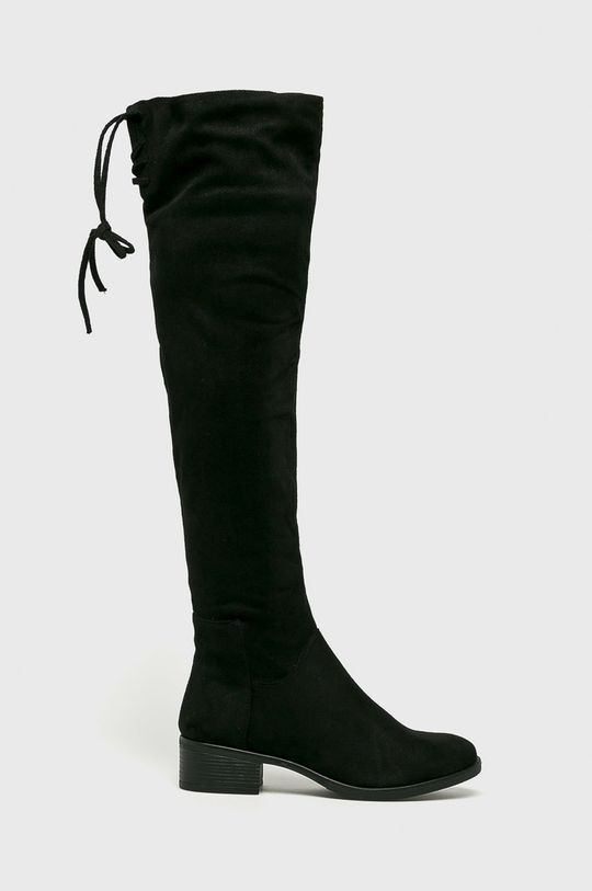 čierna Answear - Vysoké čižmy Abloom Dámsky