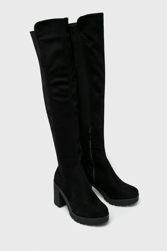 Answear - Vysoké čižmy Gogo čierna