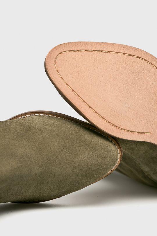 zelená Answear - Kožené čižmy