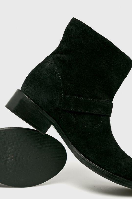 Answear - Botine de piele Gamba: Piele naturala Interiorul: Material sintetic, Material textil Talpa: Material sintetic