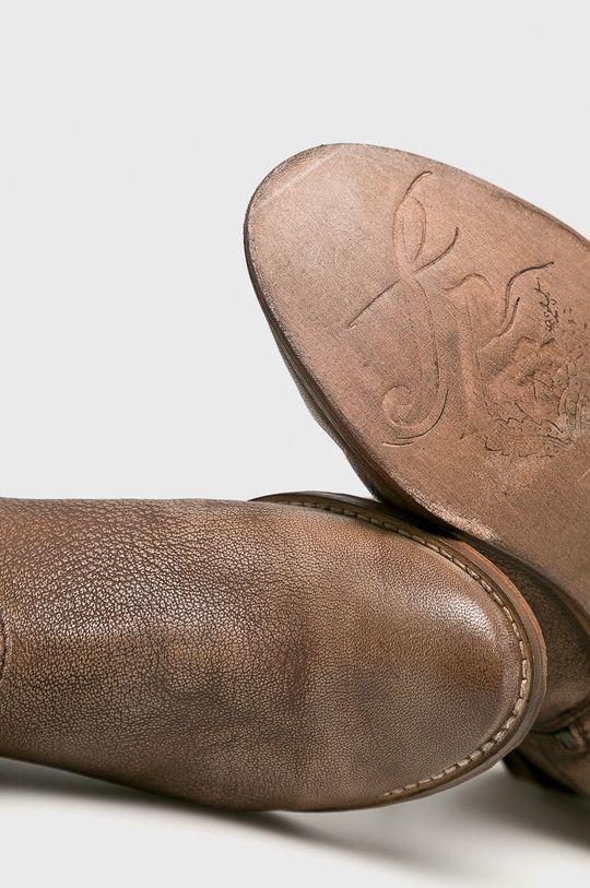 Answear - Kožené čižmy <p>100% Prírodná koža</p>