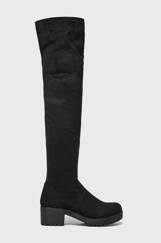 čierna Answear - Vysoké čižmy Ideal Shoes Dámsky
