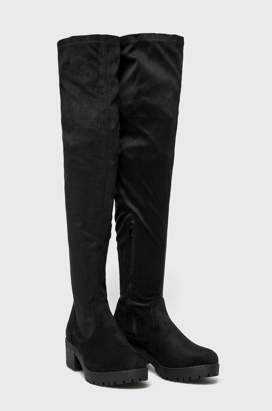 Answear - Vysoké čižmy Ideal Shoes <p>Zvršok: Textil Vnútro: Textil Podrážka: Syntetická látka</p>