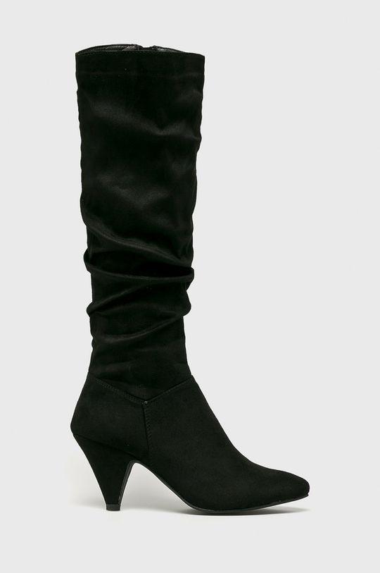 čierna Answear - Vysoké čižmy Spot On Dámsky