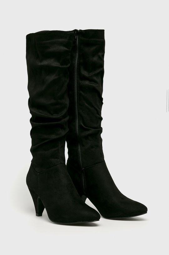 Answear - Vysoké čižmy Spot On čierna