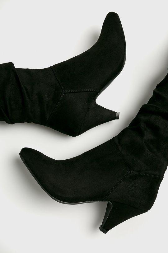 čierna Answear - Vysoké čižmy Spot On