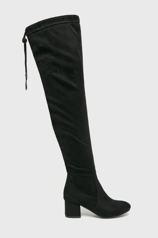 čierna Answear - Vysoké čižmy Dámsky